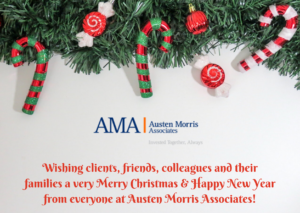 Wishing clients, friends, colleagues and their families a very Merry Christmas & Happy New Year from everyone at Austen Morris Associates!